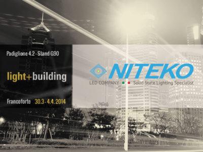 La Niteko partecipa al Light+Building di Francoforte